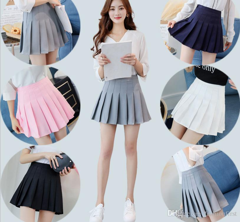 Bottoms 2018 Free Shipping Fashion Womens Pleated Skirts Are In The Middle Of The Summer Top