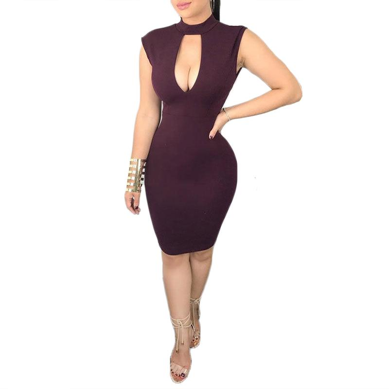 79d12c4dbba 2019 2018 New Arrival Women Fashion Summer Dress Sleeveless Low Cut Lace  Patchwork Backless Sexy Dress Club Wear Bodycon Pencil From Qyzs001