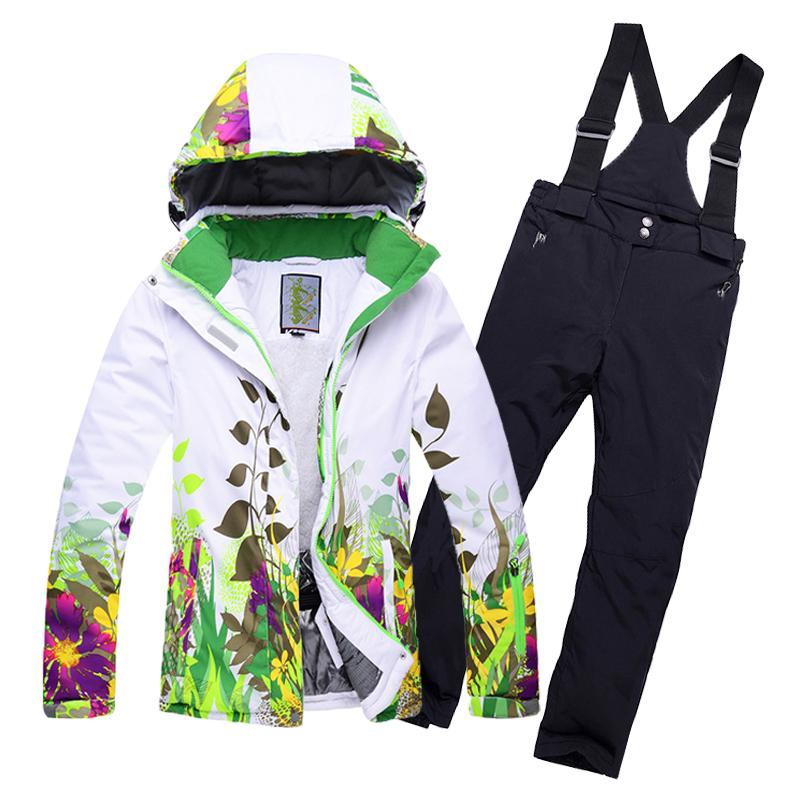 22b21f1170fc 2019 2018 New Kids Children Ski Suit Boys Or Girls Ski Jacket+Pant ...