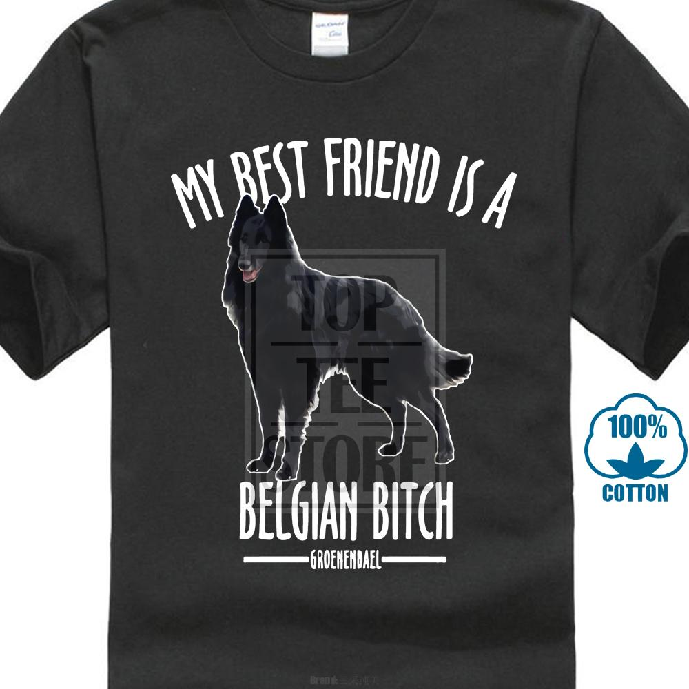 Belgian Shepherd T Shirt Dog Lover Breed Black Best Friend Bitch Groenendael New New Young Man Summer Style Couple