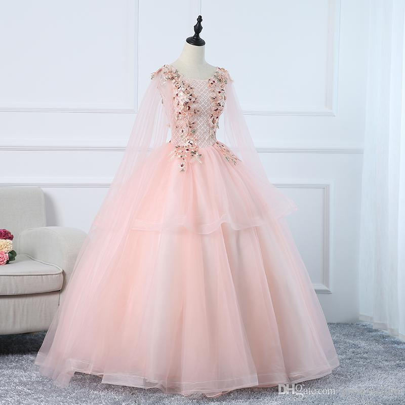 208c832964 freeship luxury light pink shoulder veil embroidery fairy ball gown long  dress Medieval Renaissance gown royal Victoria dress