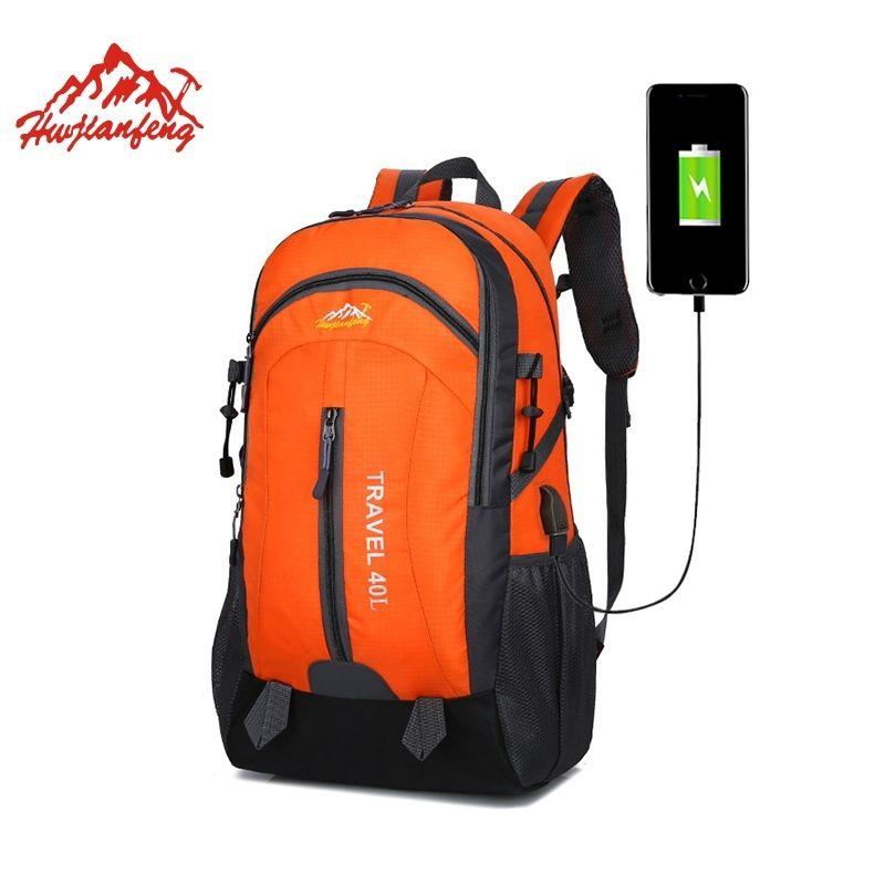 2a3cbc4bb406 40L Camping Backpacks Daypack Waterproof Outdoor Bag Men USB Hiking Bag  Travel Hunting Backpack Sports Outdoor Rucksack #288290