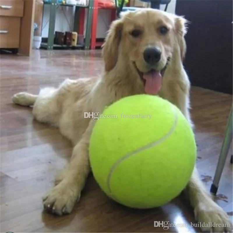24CM Big Inflatable Tennis Ball Dog Chew Toy 9.5inch Giant Pet Toy Mega Jumbo Kids Toy Ball Outdoor Supplies bb296-298
