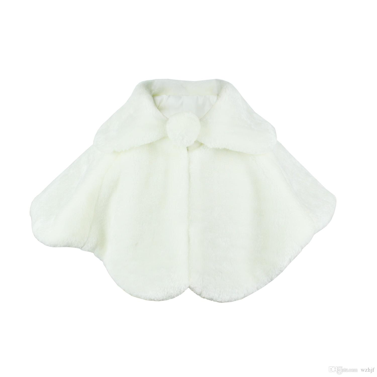 55324f5171 2019 Flower Girl Dress Coat Kids Capes Girl Cozy Faux Fur Bolero Shrug  Accessories Princess Cape V0007 From Wzhjf, $12.07 | DHgate.Com