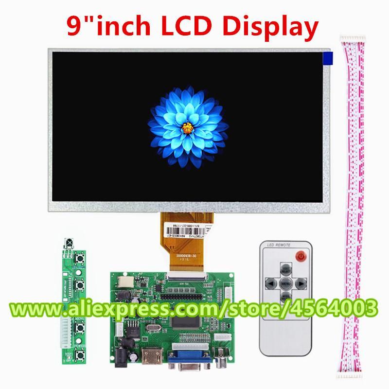 9 inch Mini Display screen Matrix LCD controller Board TTL 50pin Audio  Monitor Driver board HDMI VGA 2AV Input for raspberry pie