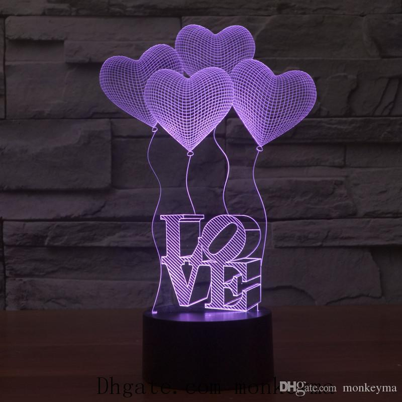 Change Color Night Lights Simple Modern Bedroom Bedside Night Light Creative Bright Coloured Decoration Table Night Lamp for Birthday Gift