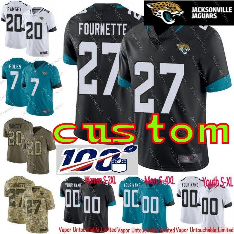 on sale d4699 68ac3 100th anniversary 7 Nick Foles Men Youth women customized Camo Realtree 20  Jalen Ramsey Leonard Fournette Custom Jaguars football jersey