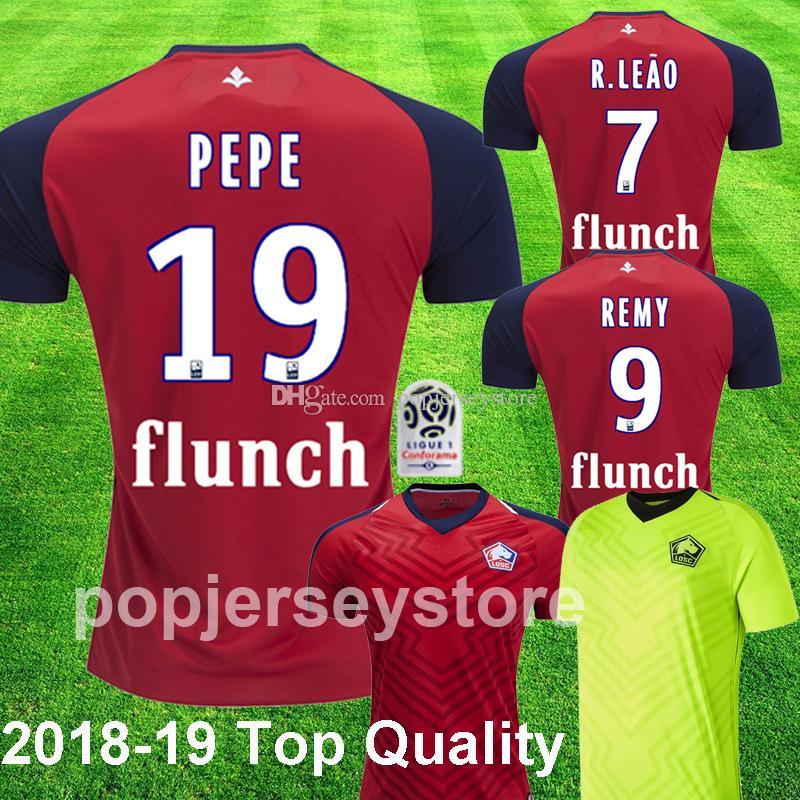 ce6ea8662e Compre 2018 2019 Lille PEPE CAMISAS De Futebol REMY BAMBA R. LEAO FONTE  XEKA Lille Olympique Sporting Club Away Camisa De Futebol Verde Tailândia  Topos De ...