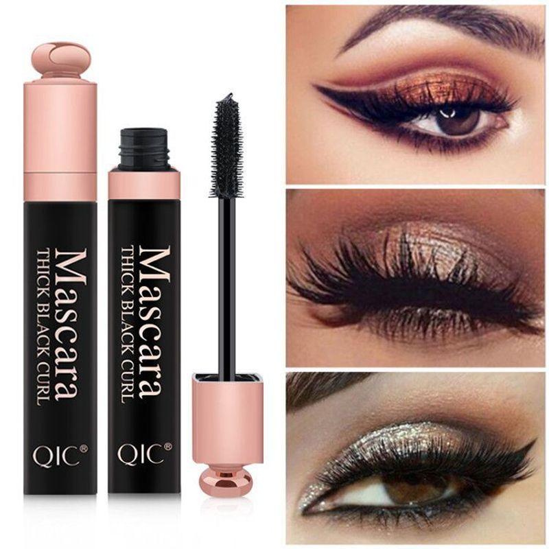 03a29805cbe QIC New 4D Silk Fiber Lash Mascara Waterproof Rimel 3d Mascara For Eyelash  Extension Black Thick Lengthening Eye Lashes Cosmetics Cosmetics Online  Makeup ...