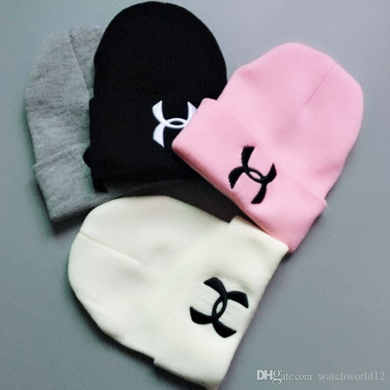 2018 New Letter Knit Hat Embroidery Winter Hat Sports Hat Fashion Men s And  Women s Hats 6668795d05c