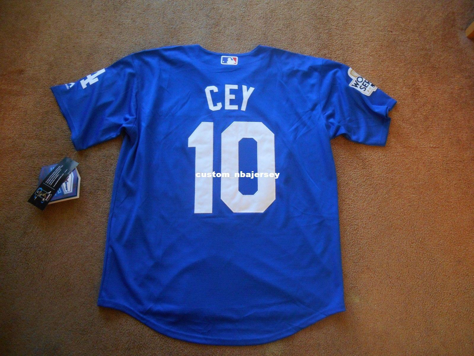 Cheap Custom Ron Cey  10 L.A. Stitched Blue Button WS Baseball Jersey  Stitched Customize Any Name Number MEN WOMEN YOUTH Jerseys Baseball Jerseys  Custom ... 2062acb7b6c