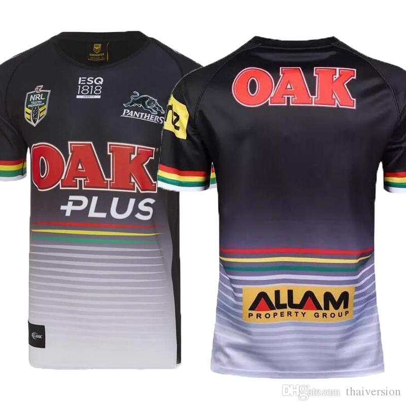 0f8534dac95 AAA+ Penrith Panthers 2018 Home Jersey Leopard Navy Shirts Rugby Jerseys  2018 Home Jersey Rugby Jerseys T Shirt Men Jersey Shirts Size S 3XL UK 2019  From ...