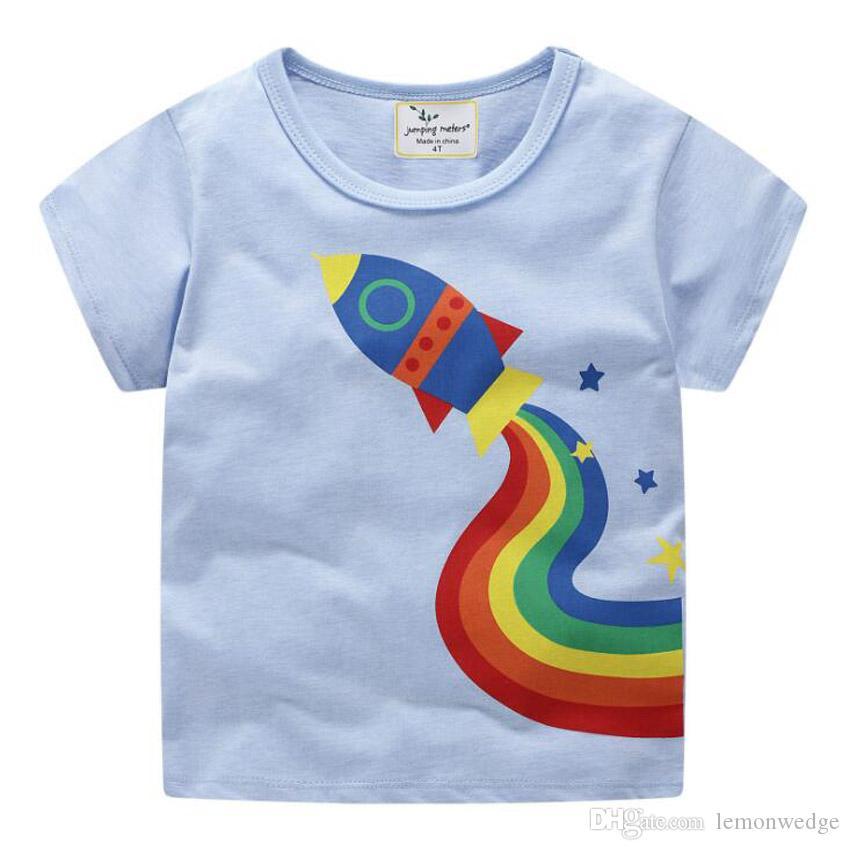 Compre 8 Diseño Moda Para Niños Camiseta De Dibujos Animados De Algodón  Para Niños Ropa Bebé Niñas Tops Camiseta Para Niños Modelo Animal Camisetas  A  27.64 ... 9ed1fbdcd734c