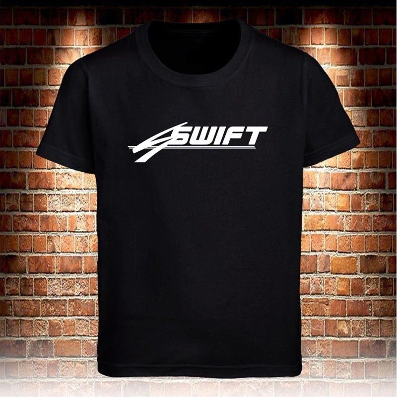 T-shirt nera Swift Transportation Truck Logo da uomo taglia S a 3XL Cool Tops Uomo corto estivo dritto 100% cotone stile Hip Hop Top