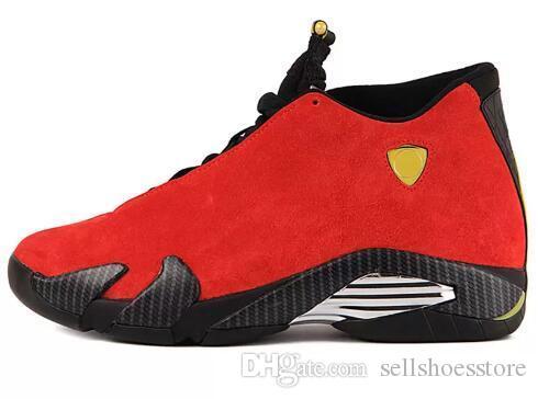 4dc394189 Compre Fashional Mens 14 14 S Sapatos De Basquete Areia Do Deserto Preto  Cinza Vermelho Trovão Da Camurça Marca De Luxo Sapatilhas Sapatos Com Caixa  ...