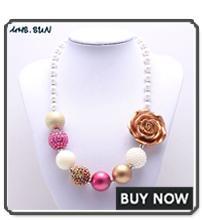MHS.SUN 1 PZ Moda baby blue + argento grosso collana di perline ragazze bubblegum gumball collana fatta a mano i bambini regalo di compleanno