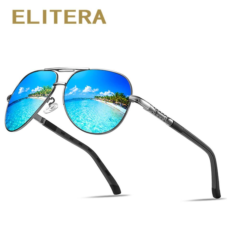 4ac3100e49 ELITERA Brand Design Pilot Sunglasses Men Polarized UV400 Protect Driving  Sunglasses Goggles Designer Eyeglasses Womens Sunglasses From Sisan08