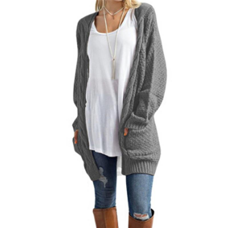 2721f7de39 2019 Long Cardigan Women Long Sleeve Knitted Sweater Cardigans Autumn  Winter Womens Sweaters 2017 Jersey Mujer Invierno From Sincha