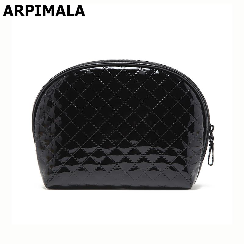 ARPIMALA 2017 Women Cosmetic Bag Patent Leather Makeup Bag Quilted Shell  Beauty Case Necessaries Clutch Organizer Travel Make Up Y181122 Designer  Makeup ... cdf0994be3d62