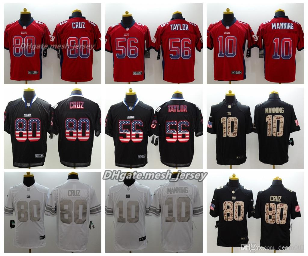 fa92fa7df Men New York Jersey Giants 80 Victor Cruz 56 Lawrence Taylor 10 Eli Manning  Color Rush Football Stitching Jerseys Embroidery Logo UK 2019 From ...