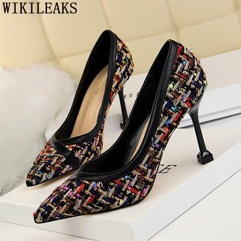 f1a5fc6c41c Dress Women High Heels Sexy Pumps Women Shoes Party Heels Bigtree Shoes  Luxury Shoes Women Designers Black Pumps Chaussures Femme Buty Silver High  Heels ...