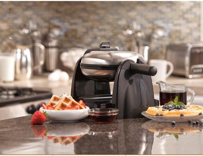 Waffelmaschine Multifunktions Haushalt elektrische doppelseitige Backpfanne Heizung Automatische Muffin Maschine Waffelmacher