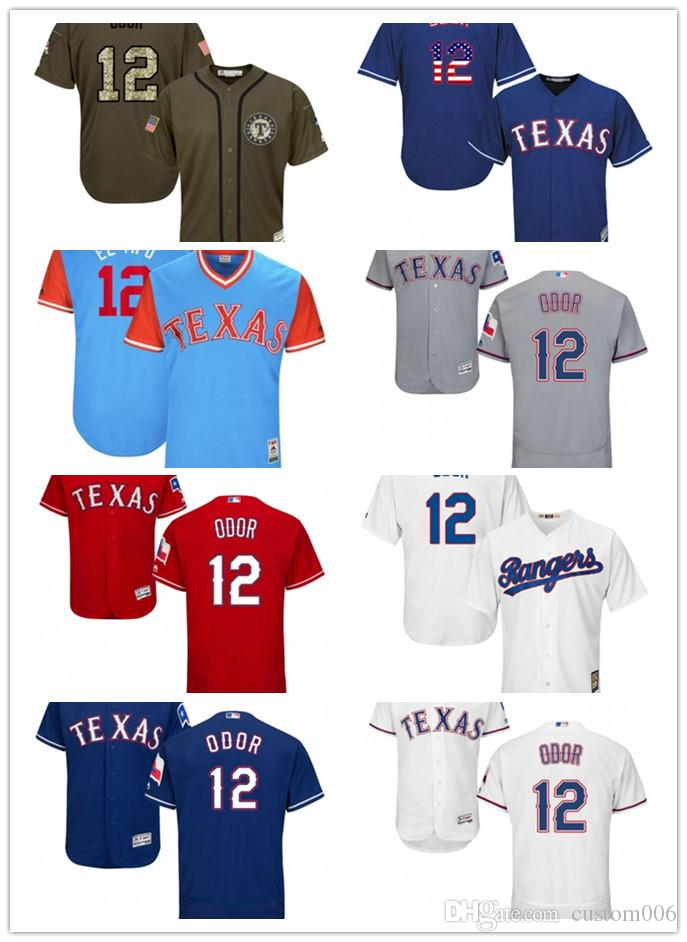 27e51fc7966 2019 2019 Texas  12 Rougned Odor El Tipo 17 Shin Soo Choo Tokki 1 Men Women  YOUH Men S Baseball Jersey Majestic Stitched Professional Rangers From  Custom006 ...