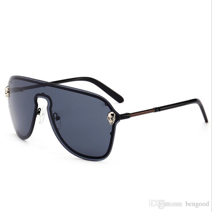 f9467f3fef895 Compre Top Qualidade Escudo Óculos De Sol Da Moda Das Mulheres Óculos De Proteção  UV Eyewear Designer De Marca Do Vintage Óculos De Sol Com Caixa Preta 6 ...