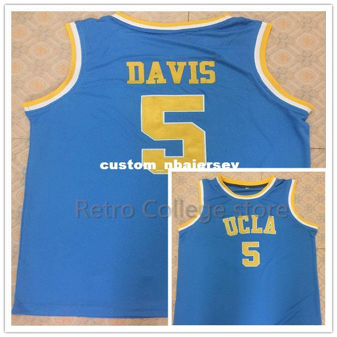 innovative design 26b09 4896f #5 Baron Davis UCLA Bruins College Men's Basketball Jersey Stitched  Customize any Number and name