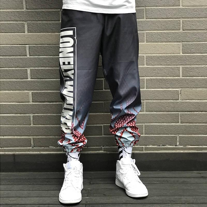 f67f889c24 2019 Moda Uomo Lettera Stampa Pantaloni Vita alta Hiphop Cool Pant Uomo  Donna Pant Jogger Dance Pantaloni sportivi Streetwear