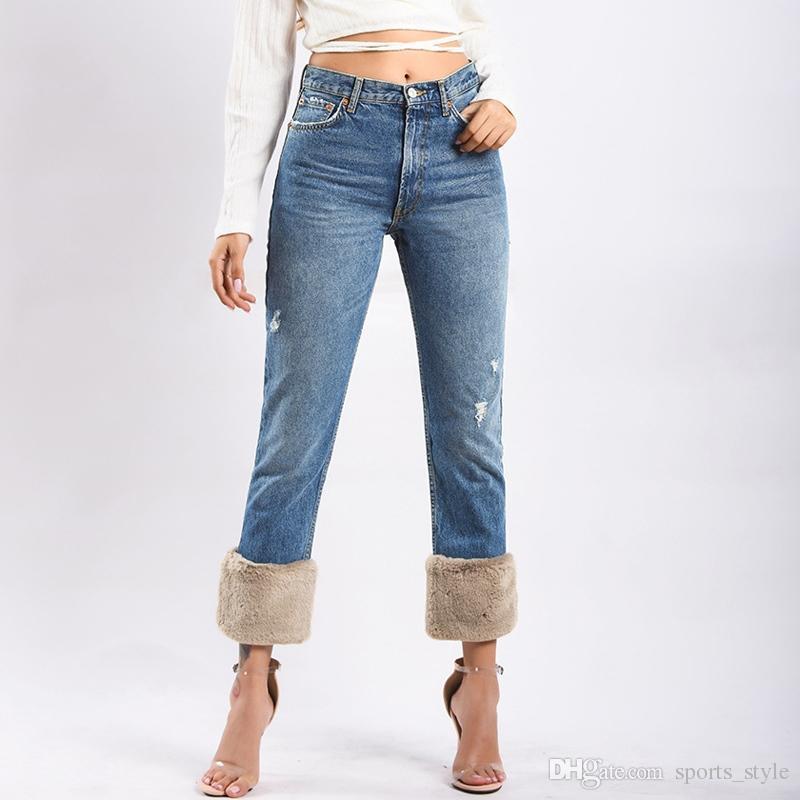 1ee4403b6c Compre Invierno 2018 Mujer Boyfriend Jeans Para Mujer Gris De Cintura Alta Suelta  Para Mujer Jeans Mujer Denim Mamá Pantalones Pantalones De Talla Grande ...