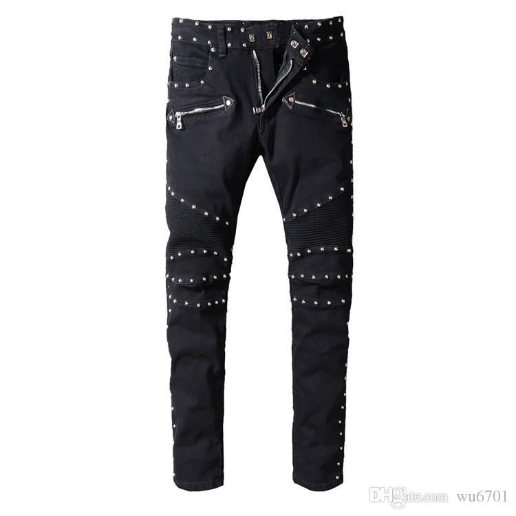 ddc6e47b9e 2019 Hot Sell Men Designer Jeans Black Jeans Men Casual Male Jean Skinny  Motorcycle High Quality Denim Pants 1061 From Wu6701, $62.95 | DHgate.Com