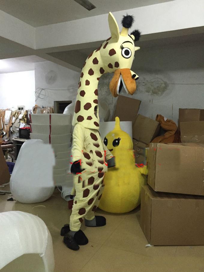 The new 2019 motor plus, sika deer and giraffes cartoon garment walking  Mascot Costumes