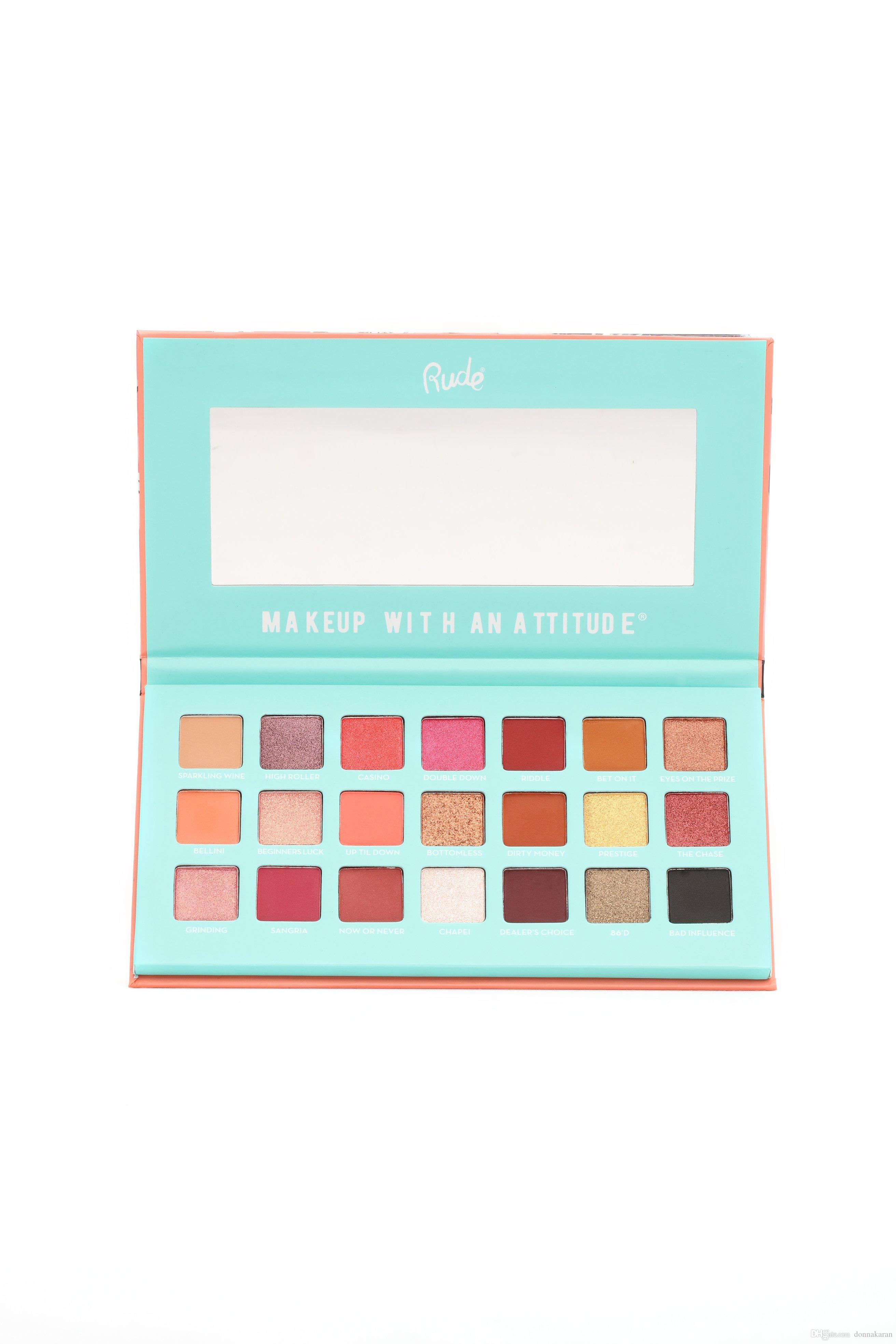 1160718401f4 Rude Cosmetics Eye Makeup Nude Smoky Matte Shadow Tough Girl - Blackjack 21  Shades Eyeshadows Palette 21g