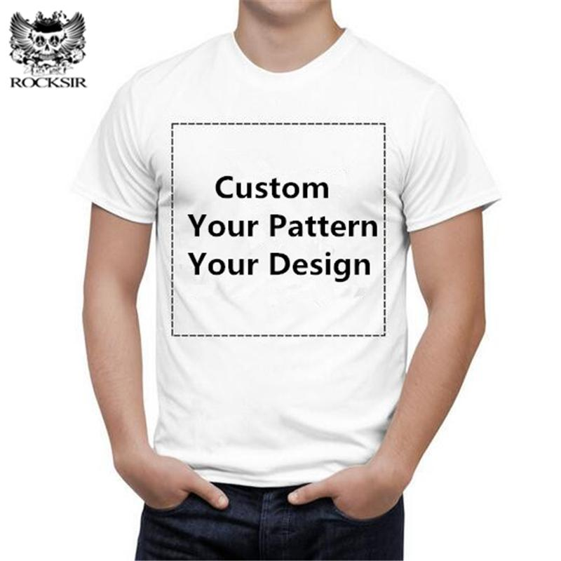 b98b86e8 Rocksir Women Customized Graphic Printed T Shirt 100% Cotton Men Tee Shirt  Casual Basic Tshirt Your Own Design Black White Of T Shirt T Shirt On From  ...