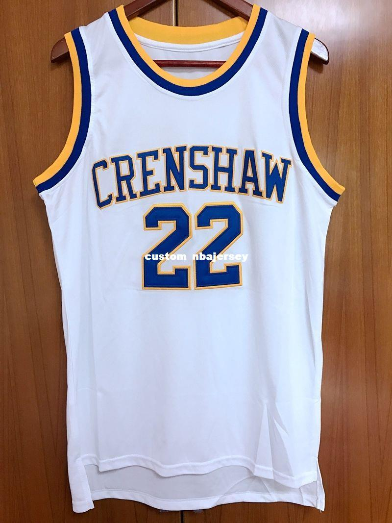 1f860237a3a 2019 Custom Quincy McCall 22 Crenshaw High School Basketball Jersey Movie  Love & Basketball Stitched Customize Any Number Name MEN WOMEN YOUTH From  ...