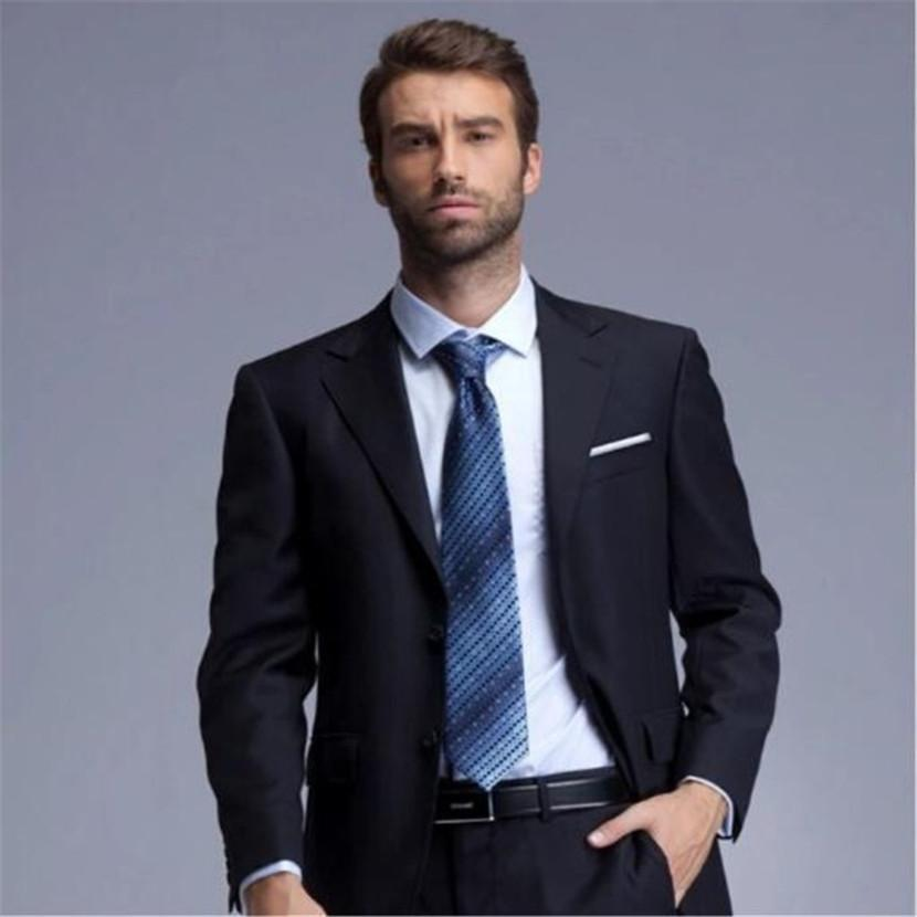 ef4a084fad Slim Fit Mens Business Suit (Jacket+Pants+Tie) Handsome Men's Suits Spring  2018 Hot Sell Wedding Suits Groom Customized