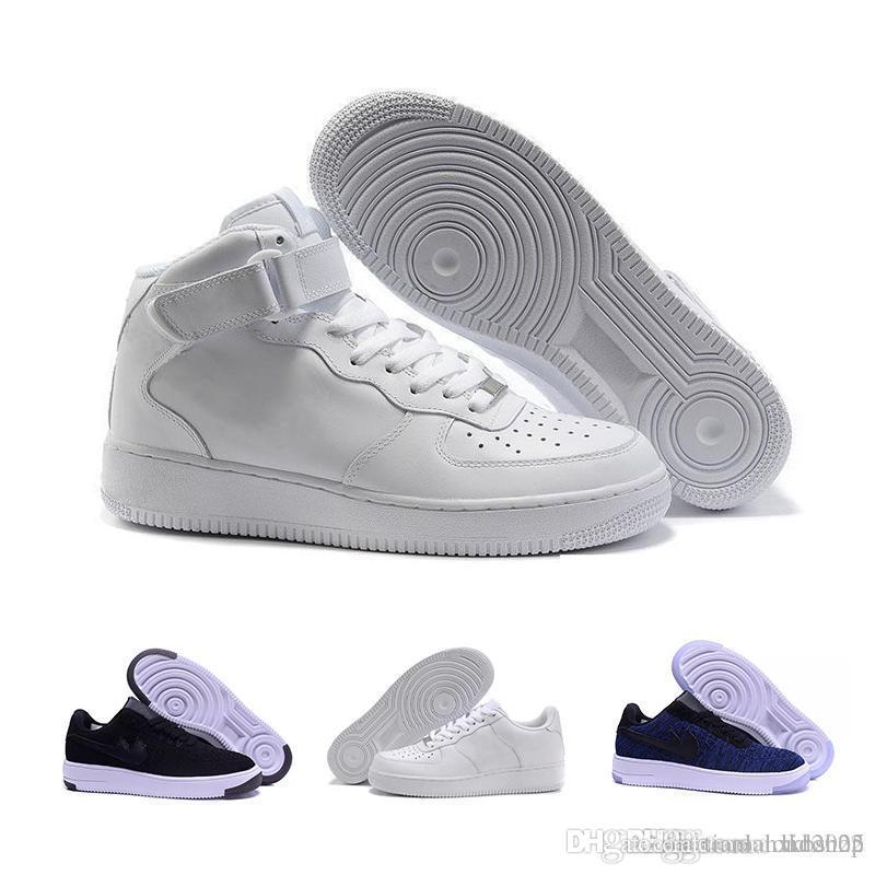photos officielles b1385 b244f nike air force 1 Flyknit Utility Chaussures de running Flyline classiques  pour hommes et femmes, chaussures de skateboard air 1 génération haute  basse ...