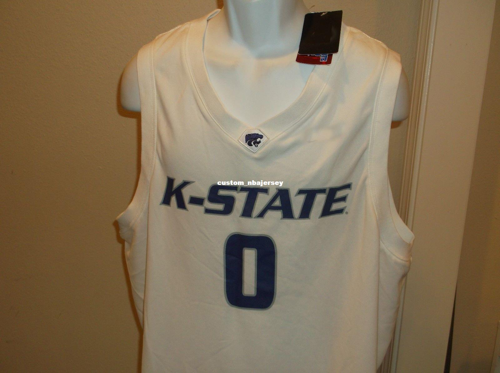 bfc22f409cf 2019 Cheap Custom Kansas State Wildcats Basketball Jersey Stitched  Customize Any Number Name MEN WOMEN YOUTH XS 5XL From Custom_nbajersey,  $17.52 | DHgate.