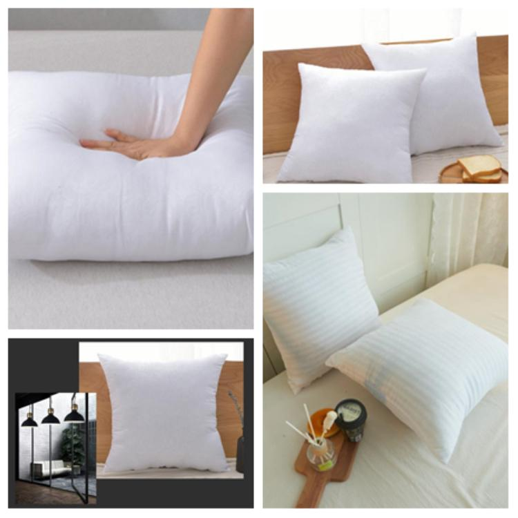 White Polyester Decorative Pillow Square Pillow Core Form Cushion Stuffing Sofa Pillow Car Waist Pillows Hotel PillowsT2I5110