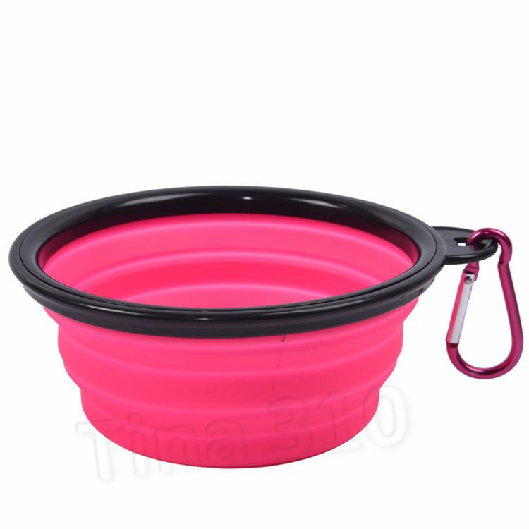 Kanca Köpek ile sıcak Seyahat Katlanır Köpek Kedi Besleme Bowl İki Stiller Pet Su Bulaşık Besleyici Silikon Pet kase T2I51108 Malzemeleri