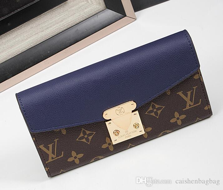 2019 new wallet female long clutch bag Korean version of the multi-function personality buckle devils hand holding more card holder wallet