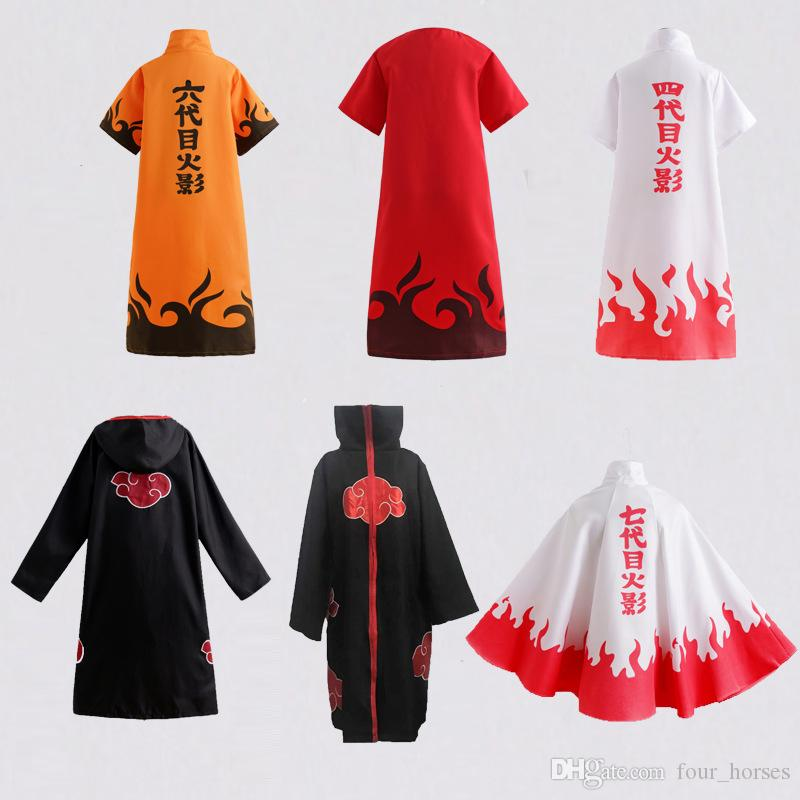 Hot Sale Anime Naruto Akatsuki Cloak Cosplay Costume Halloween Christmas Party Cloak Cape Unisex