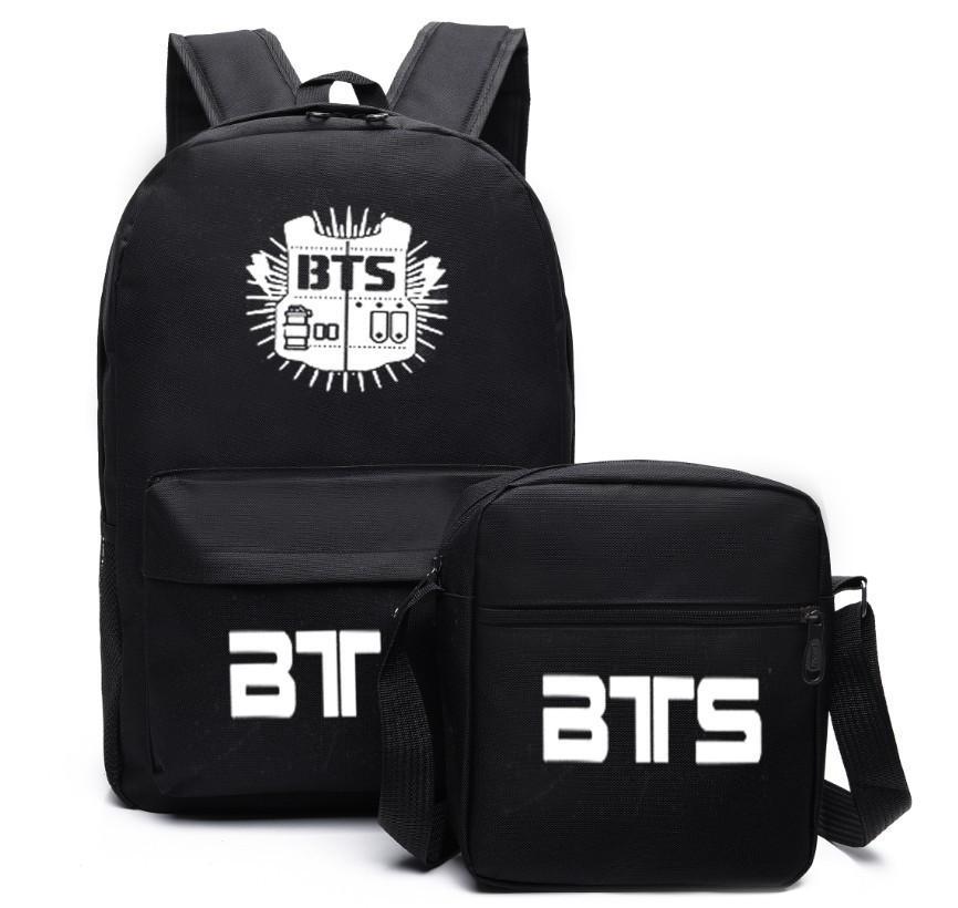 New Fashion Bangtan Boys Backpack Bts Black And Crossbody Bag Men S Backpack  School Bag For Man 2019 Back Packs Rolling Backpacks From Jumpmen07