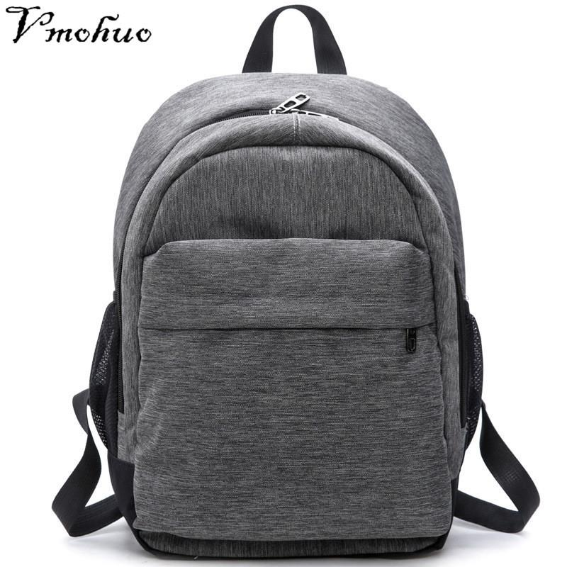 2019 FashionVMOHUO Women Waterproof Canvas Backpacks Ladies Shoulder Bag  Rucksack School Bags For Girls Travel Gray Blue Laptop Bags For Boy College  ... 1a88f6c3151bb