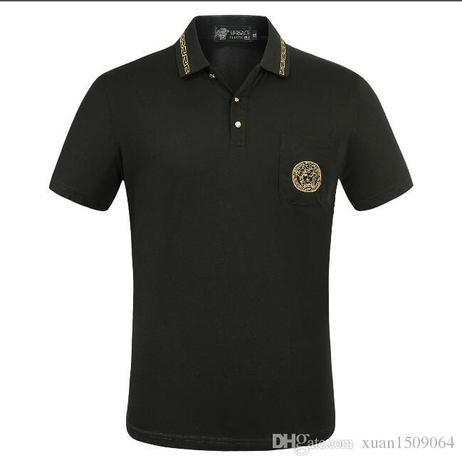 Men's summer lapel t-shirts, shirt collars and POLO shirts are fashionable for men's wear