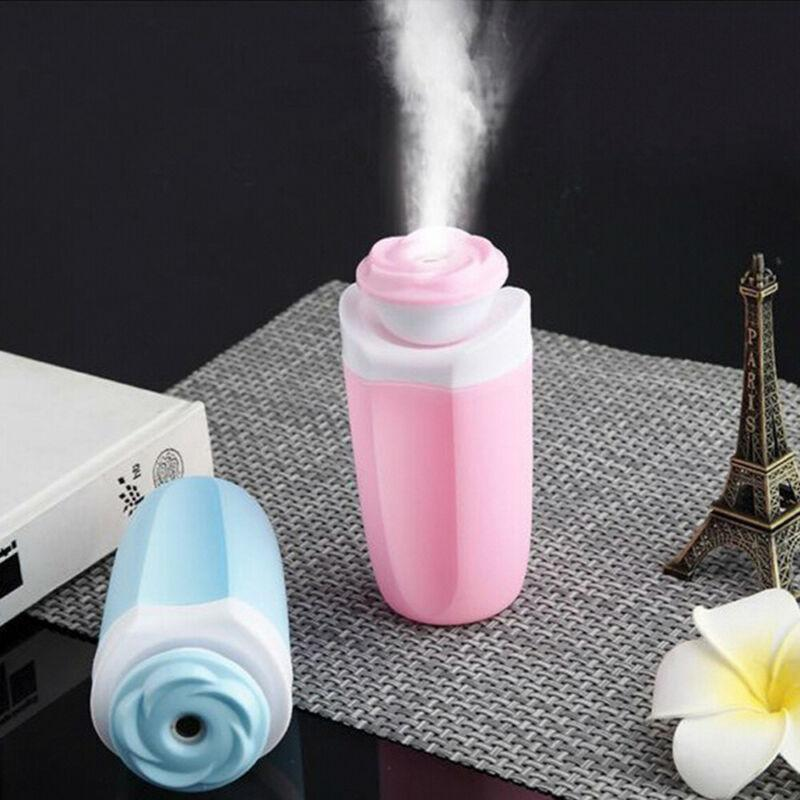 Portable Mini LED Air Humidifier Air Purifier Aroma Diffuser USB Charging Cable