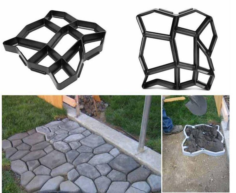 Diy Garden Concrete Paving Mold For Pavement Walkways For Garden Path Paving Mold Pathmate Shovel Furniture Accessories