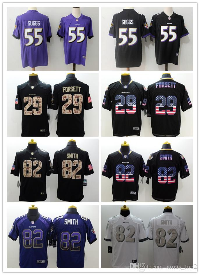 premium selection cf4d7 93c43 2019 New Mens 55 Terrell Suggs Jersey Baltimore Ravens Football Jerseys  Stitched Embroidery 82 Torrey Smith 29 Justin Forsett Football Shirt