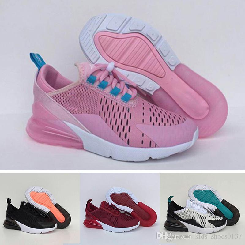 Nike air max 270 Zapatilla infantil para niños y bebés para niños de alta calidad clásico entre padres e hijos atlético zapatillas de deporte al aire